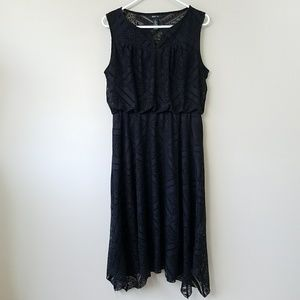 Style & Co Black Lace Midi Dress